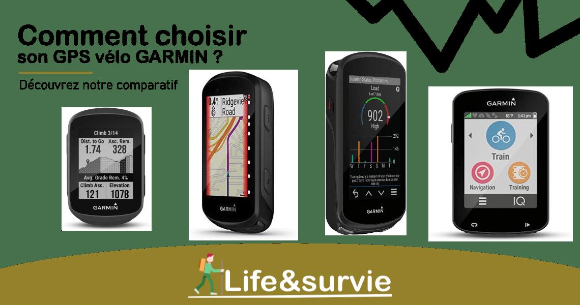 Fiche comparatif life and survie GPS vélo garmin