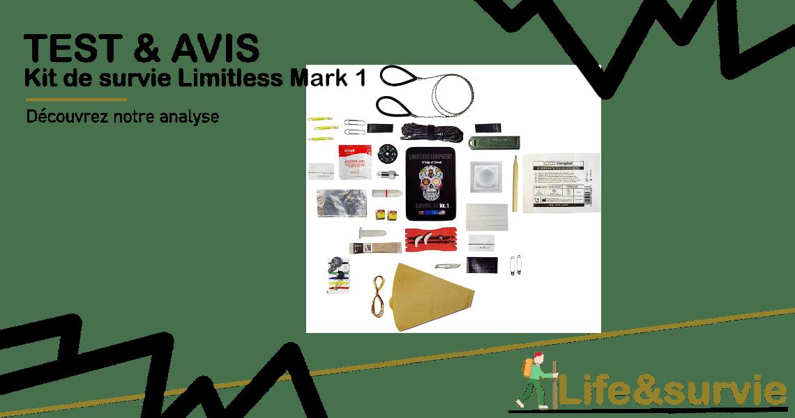 Fiche produit test et avis life and Kit de survie Limitless Mark 1