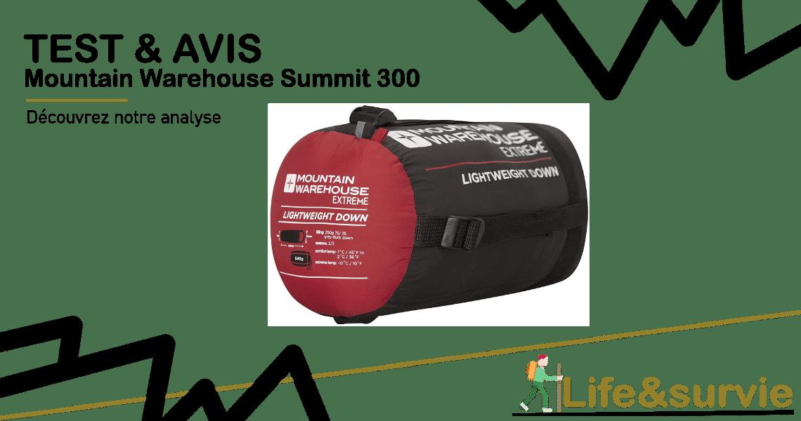 Fiche produit test et avis life and survie Mountain Warehouse Summit 300