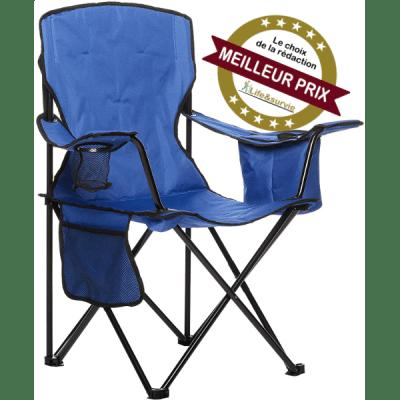 Amazon Basics chaise pliante de camping fiche meilleur test