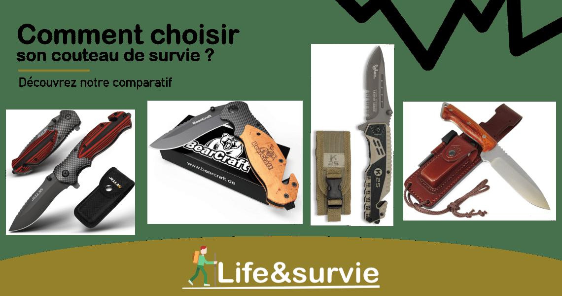Fiche comparatif life and survie Couteaux de survie