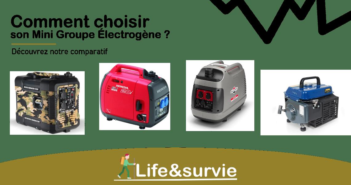 Fiche comparatif life and survie Mini Groupe Électrogène