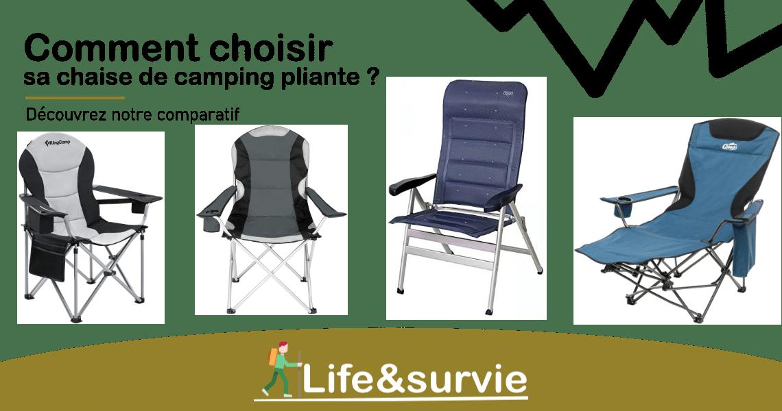 Fiche comparatif life and survie chaise de camping pliante