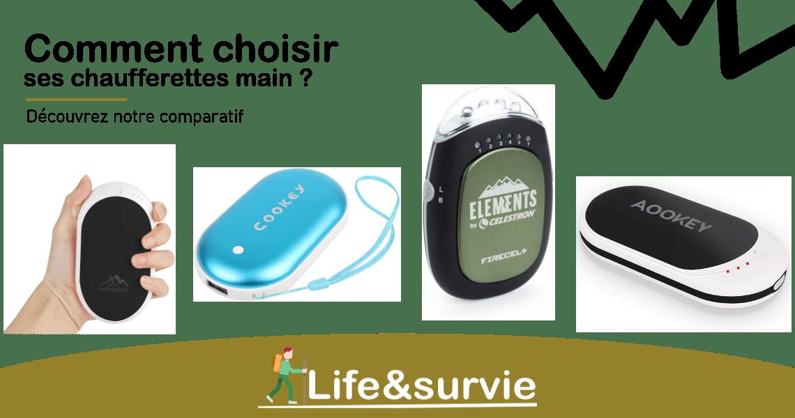 Fiche comparatif life and survie chaufferettes main