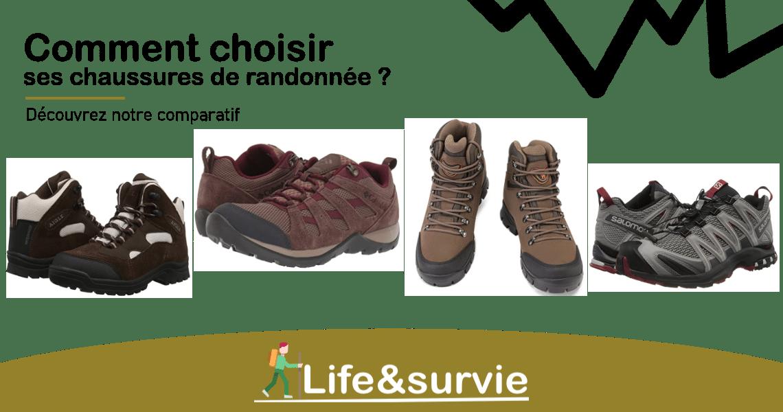 Fiche comparatif life and survie chaussures de randonnée
