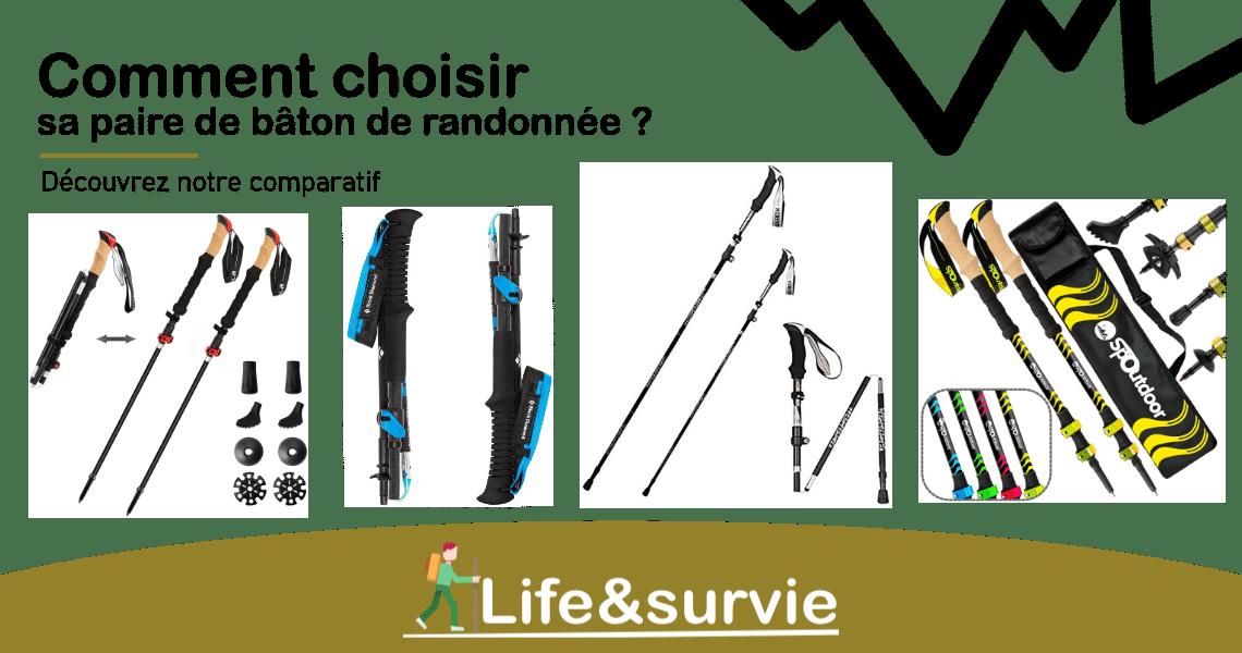 Fiche comparatif life and survie Bâton de randonnée