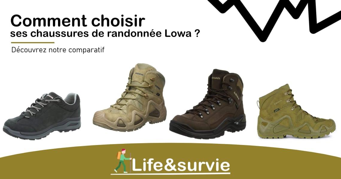 Fiche comparatif life and survie les meilleures chaussures de randonnée Lowa