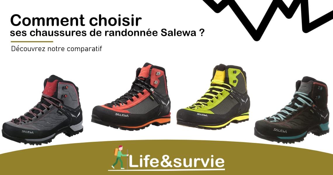 Fiche comparatif life and survie les meilleures chaussures de randonnée Salewa