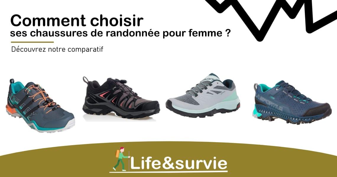 Fiche comparatif life and survie les meilleures chaussures de randonnée pour femme