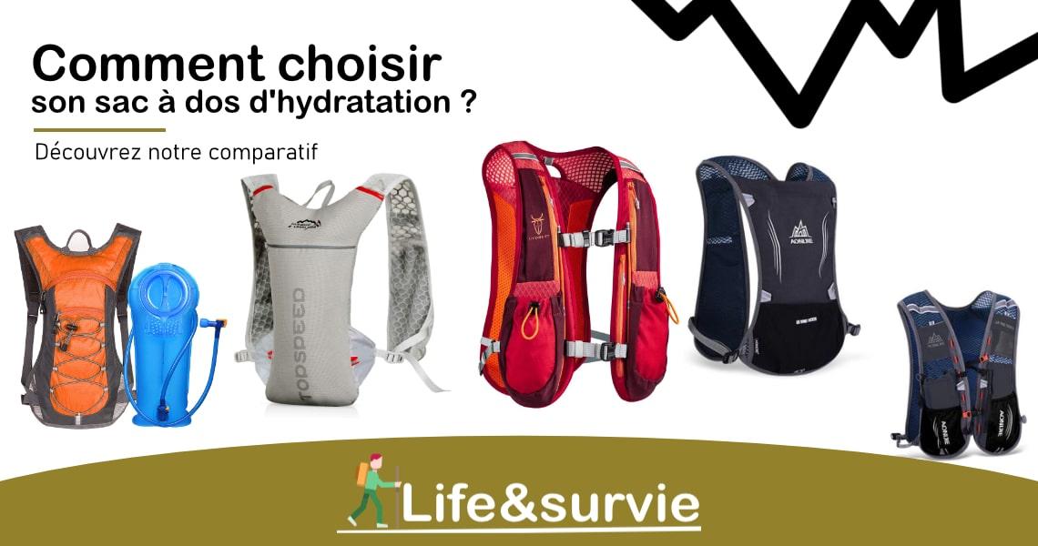 Fiche comparatif life and survie les meilleurs sacs à dos d'hydratation