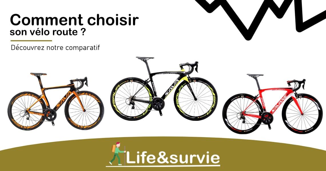 Fiche comparatif life and survie vélo route en carbone
