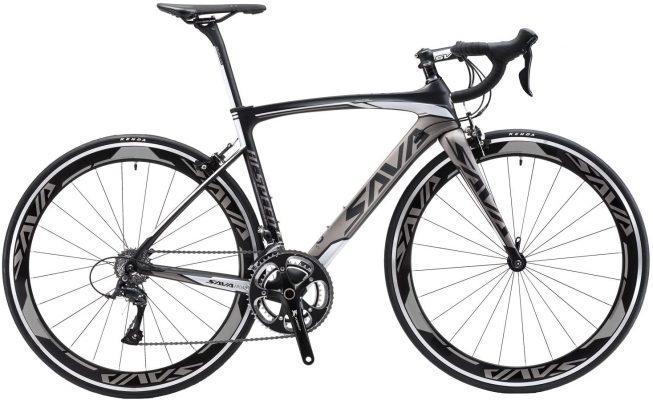 vélo route en carbone SAVA WARWINDS 5.0 700C gris et noir