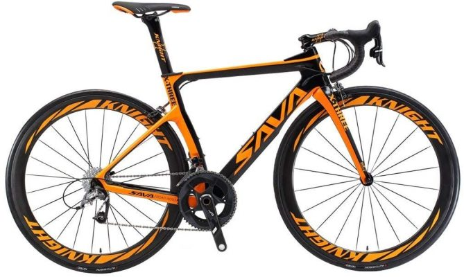 SAVADECK Velo de Route Carbone, Phantom 3.0 700C orange et noir