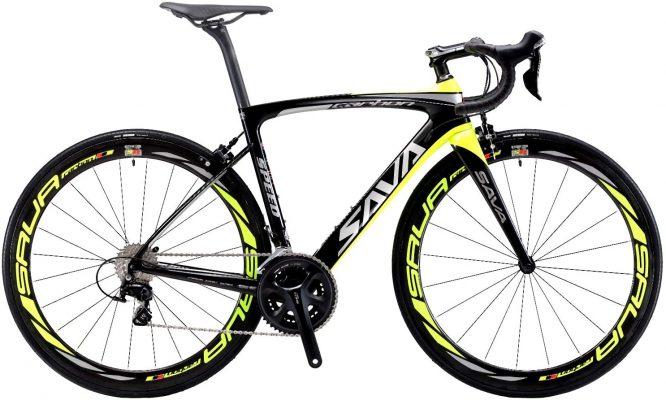 Vélos de Route Carbone, SAVADECK HERD6.0 700C Noir et Jaune