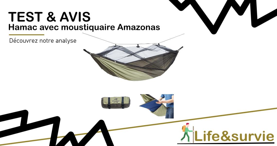 Fiche produit test et avis life and survie Hamac avec moustiquaire Amazonas